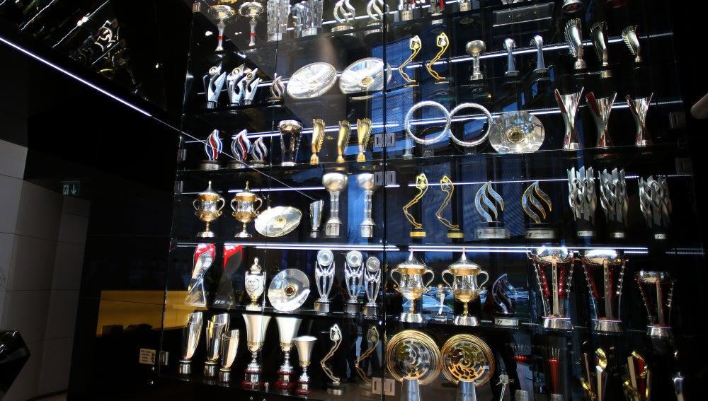 Sala de trofeos del equipo Red Bull