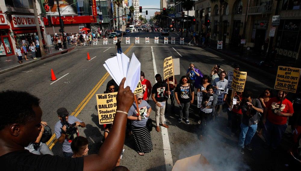 Protestas en el Paseo de la Fama de Hollywood