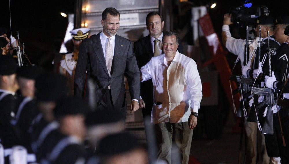 Felipe VI, a su llegada a Veracruz