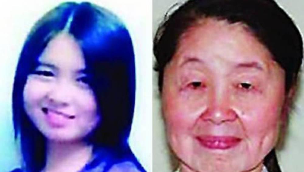 Aspecto de Hu Juan, antes y actualmente a causa de la enfermedad