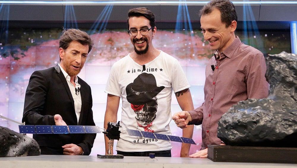 Pablo Motos, Marron y Pedro Duque en El Hormiguero 3.0