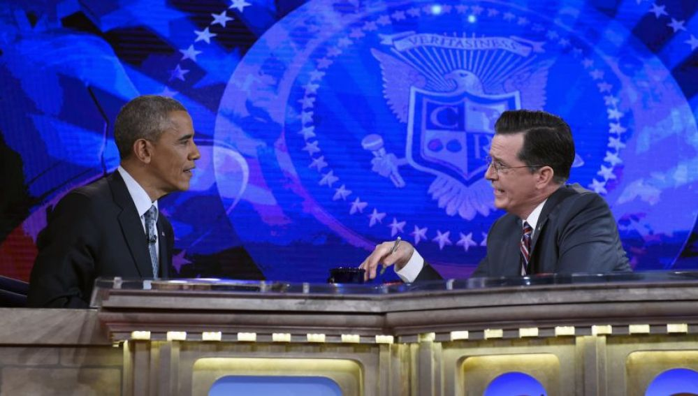 Barack Obama en The Colbert Report