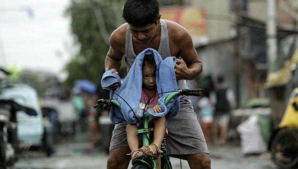 Afectados por el tifón de Filipinas