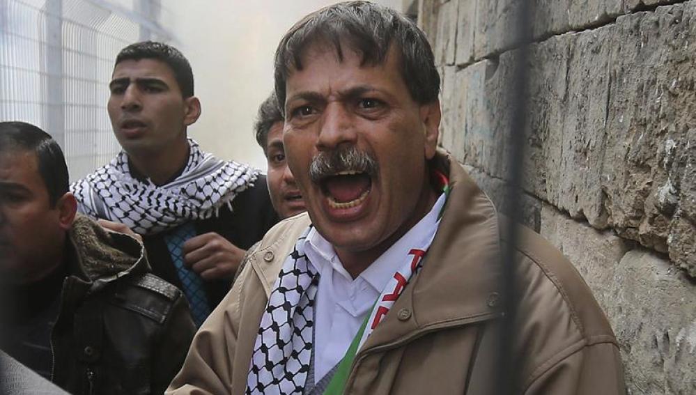 El fallecido Ziad Abu Ein, en una protesta anterior