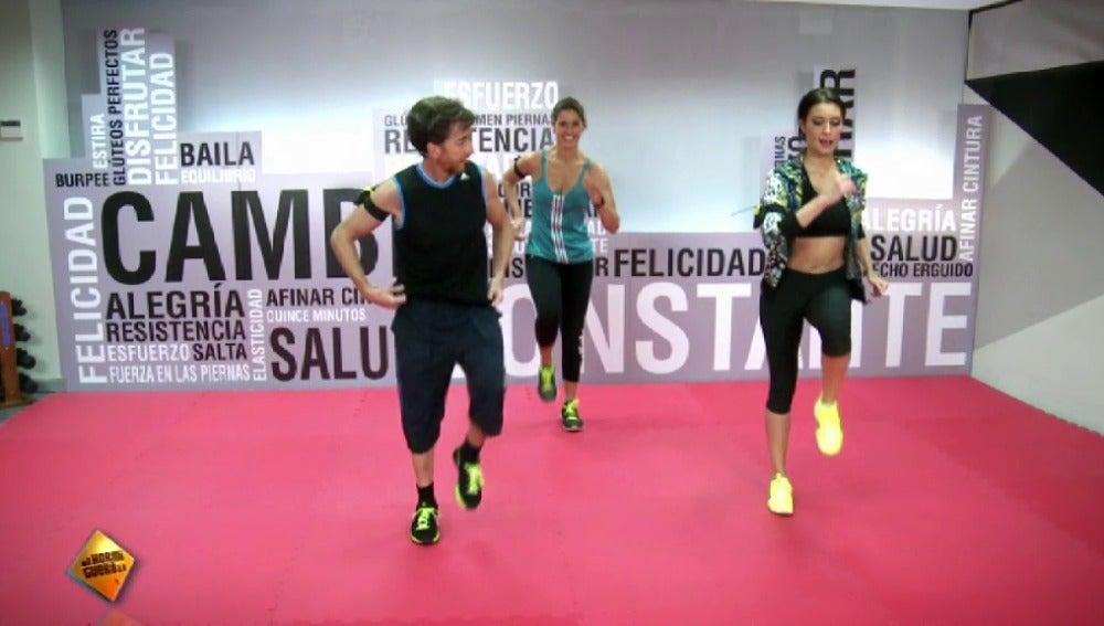 Ejercicio cardiovascular con Pilar Rubio