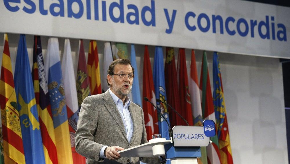 Mariano Rajoy, en un discurso