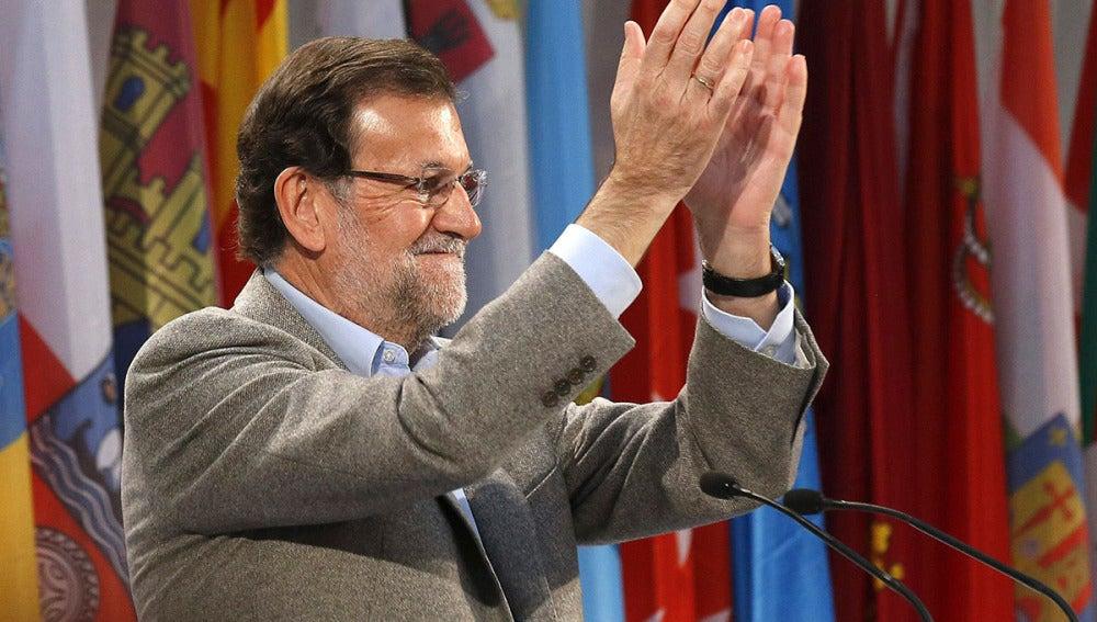 Mariano Rajoy, en un acto del PP en Segovia