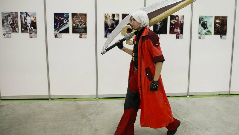 Dante, paseando por el Expocómic