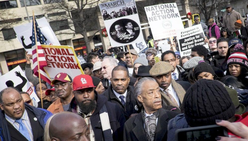Protestas en Washington por las muerte de afroamericanos a manos de la policía