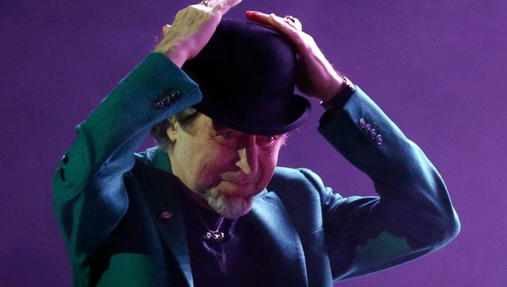 Joaquín Sabina, en su concierto de anoche en Madrid