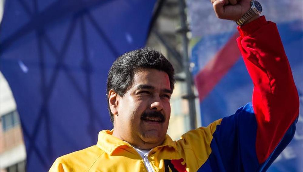 Nicolás Maduro en una manifestación en Venezuela.