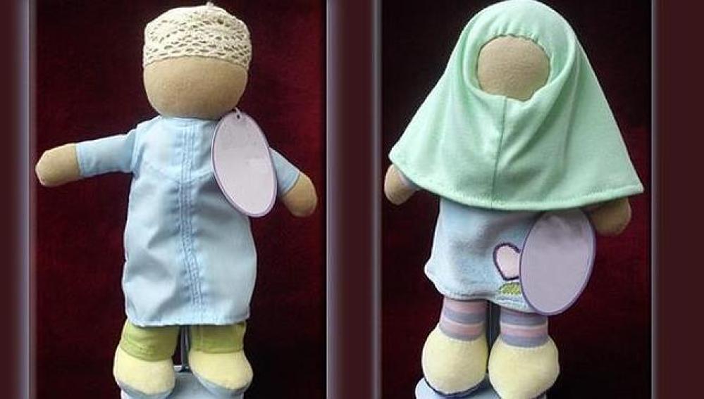 Muñecos islámicos de la serie 'Deenie Doll'.