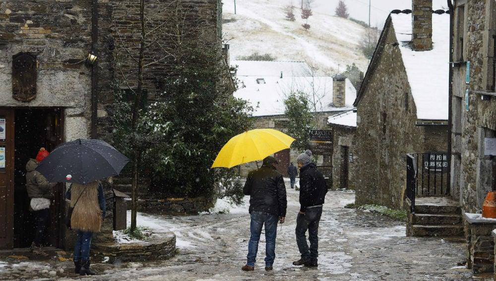 Nieve en O Cebreiro