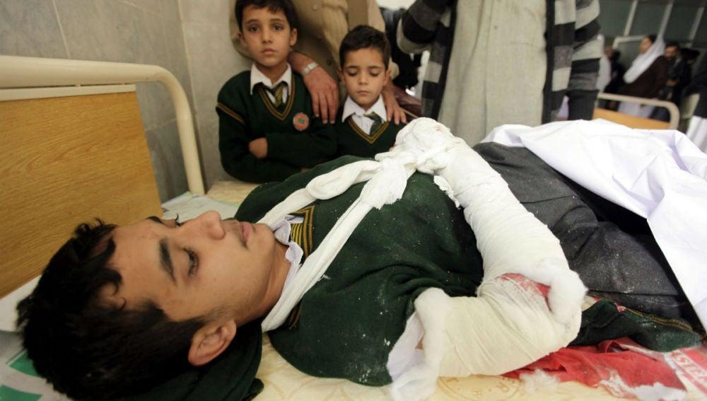 Un estudiante herido en el ataque a la escuela