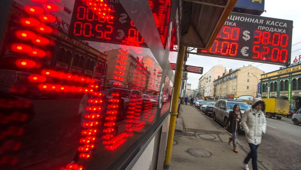 Cambio de divisas en Rusia