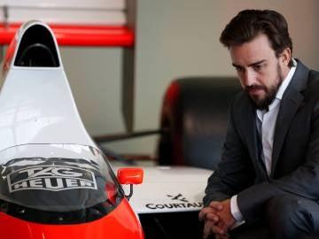 Fernando Alonso en Woking