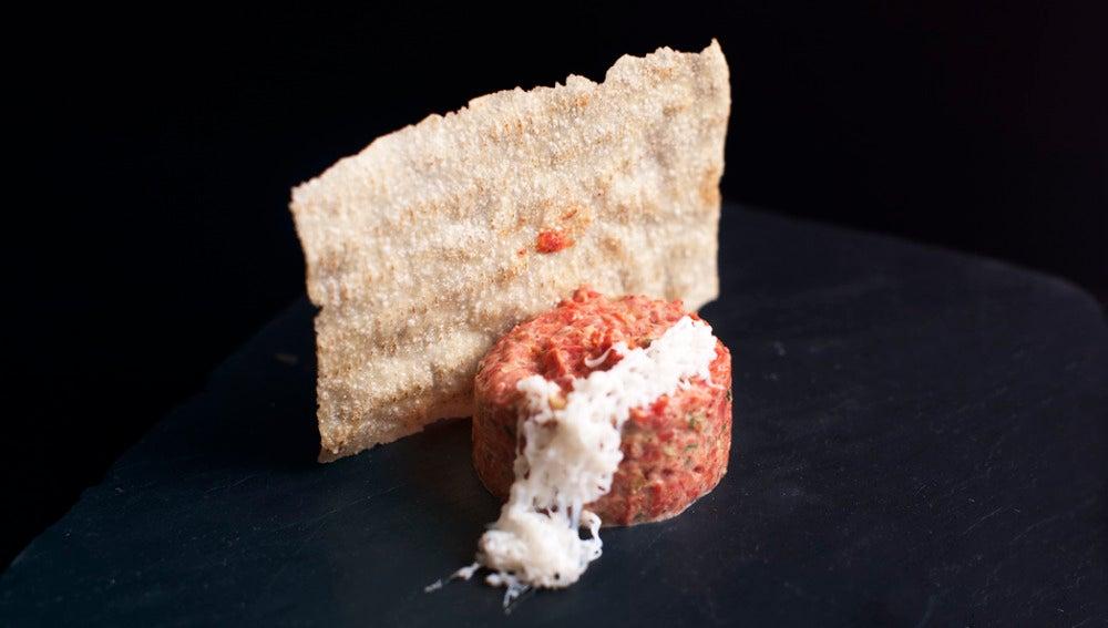 Tartar de tomate, en versión de La Tasquita.