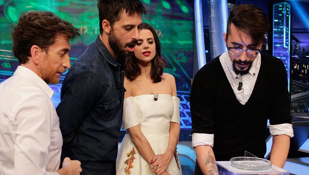Hugo Silva, Macarena Gómez, Marron y Pablo Motos en El Hormiguero 3.0