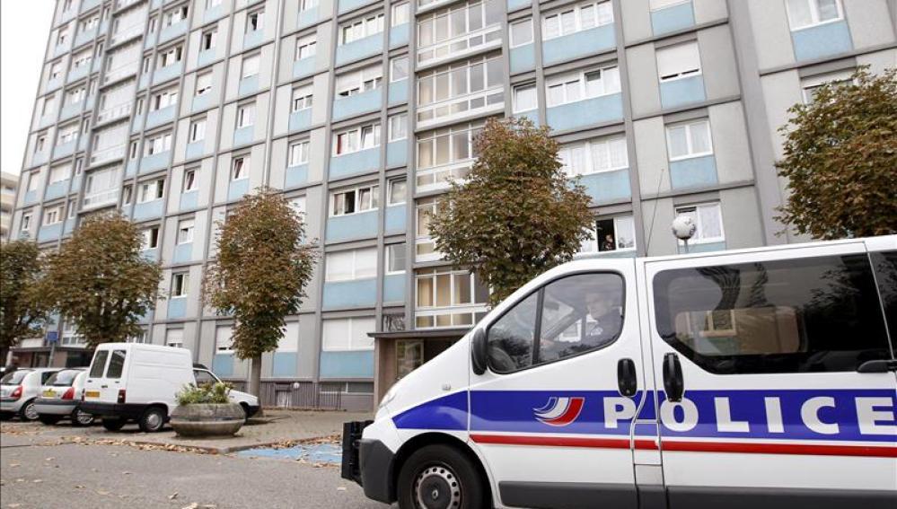 Coche de la policía francesa (Archivo)