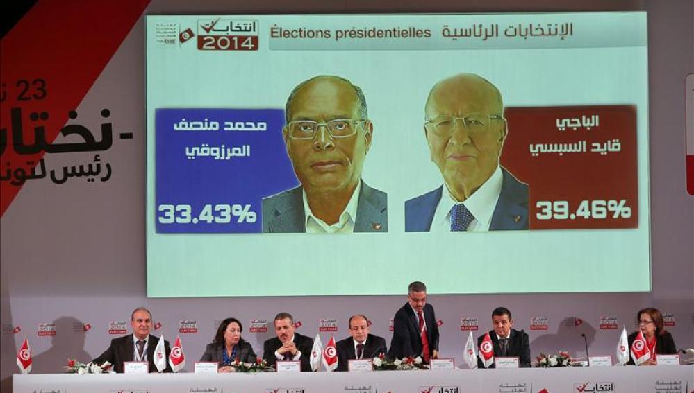 Los candidatos a la presidencia tunecina