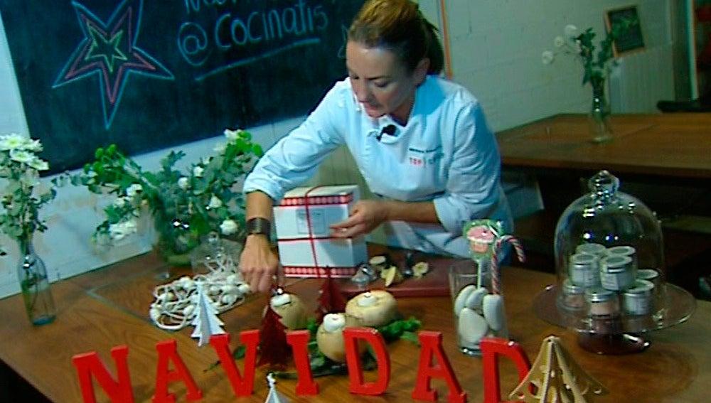 Nabos, ramas y velas para decorar la mesa en Nochebuena