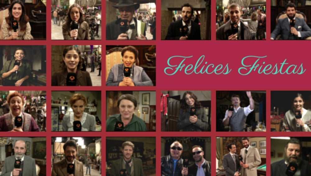 Los actores de El secreto de Puente Viejo os desean Felices Fiestas