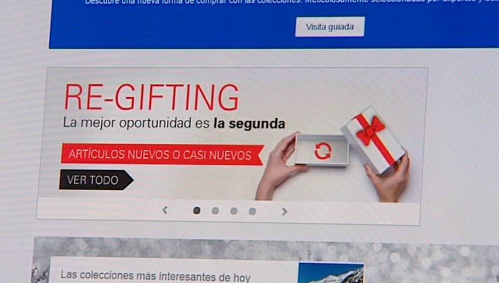 Sitio web de re-gifting en España