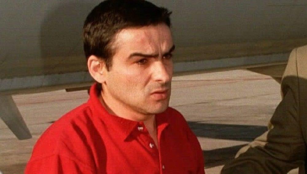 El etarra García Corporales durante su detención