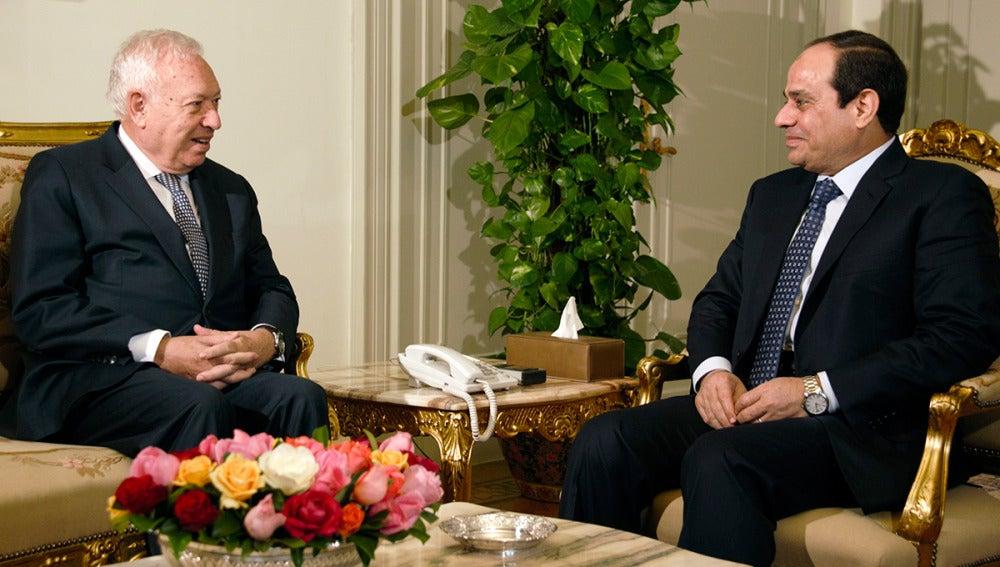 García-Margallo conversa con el presidente de Egipto