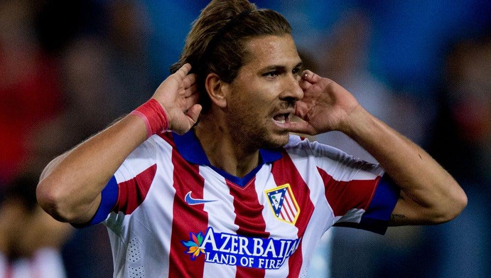 Cerci, en un partido con el Atlético