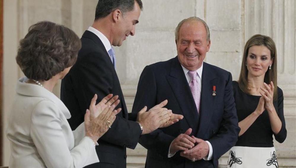 El Rey Juan Carlos I el día de su abdicación