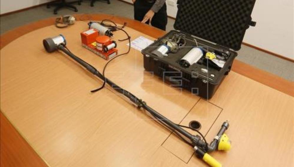 Sistema de detección acuático usado en las labores de busqueda