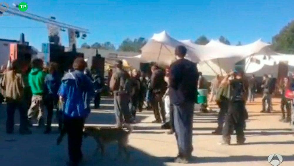 'Rave' ilegal de Bengéber
