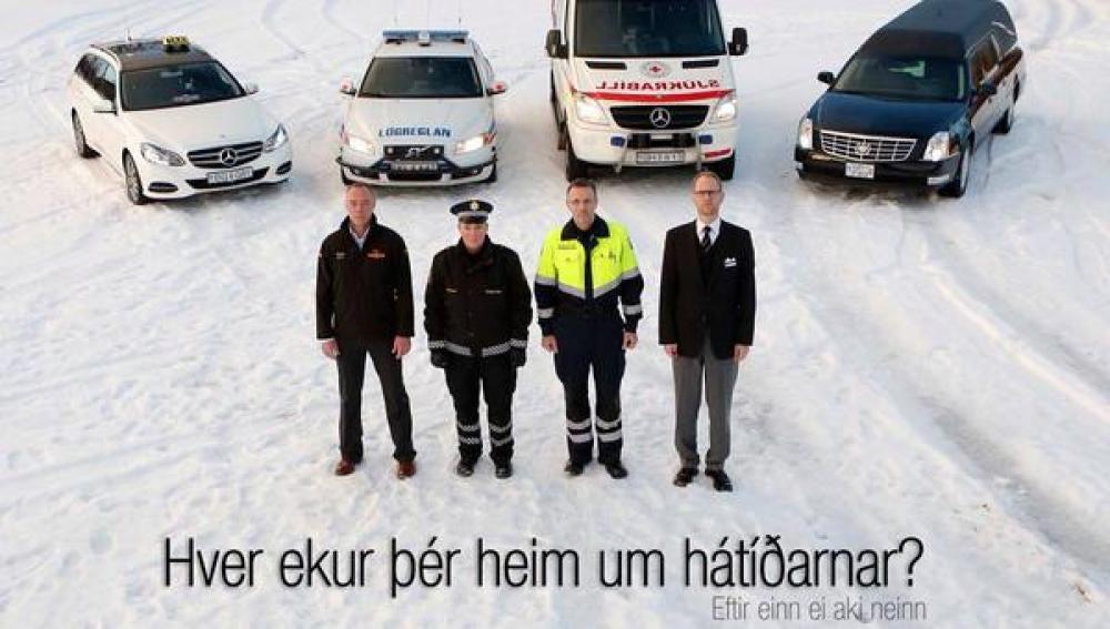 Curiosa campaña de la Policía islandesa.