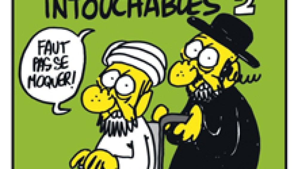 Portada con la caricatura de Mahoma.