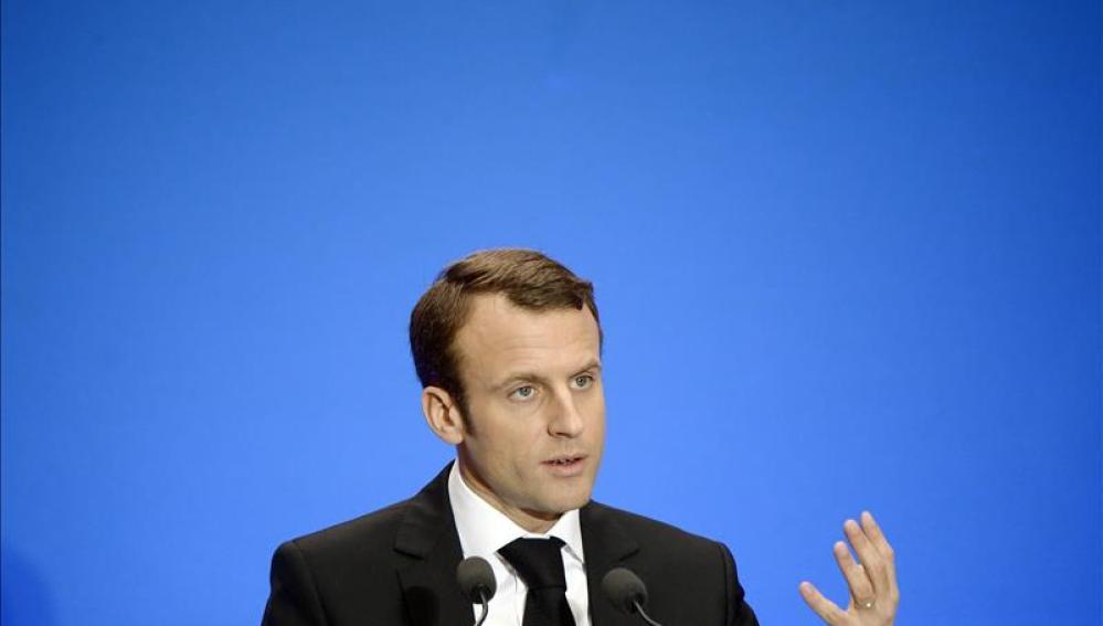 El ministro francés de Economía, Emmanuel Macron.
