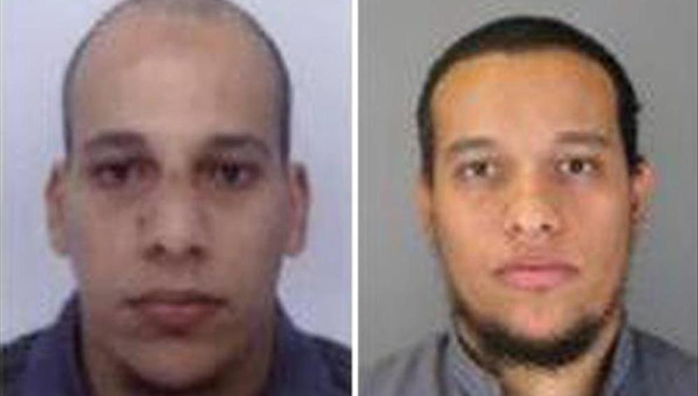 Cherif Kouachi, 32, y su hermano Said Kouachi, 34, sospechosos del ataque.