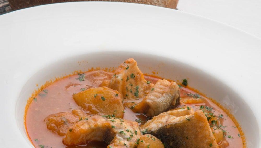 Anguila con patatas