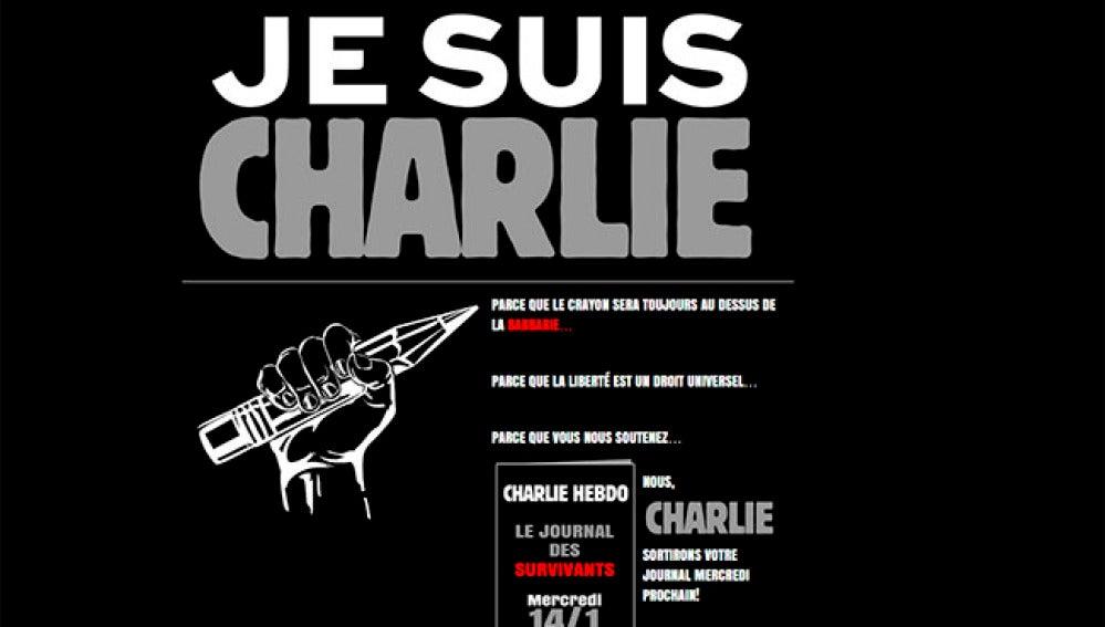 Ilustración en la web del Charlie Hebdo