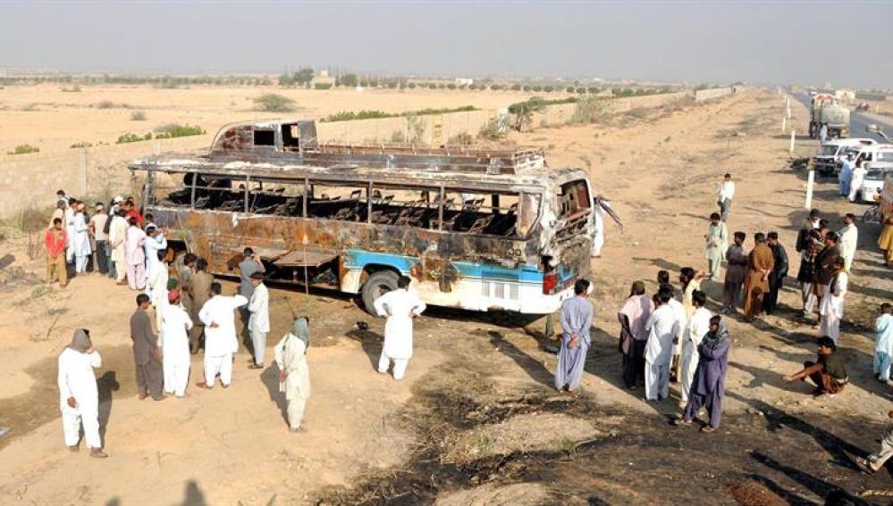 El autobús siniestrado en Pakistán