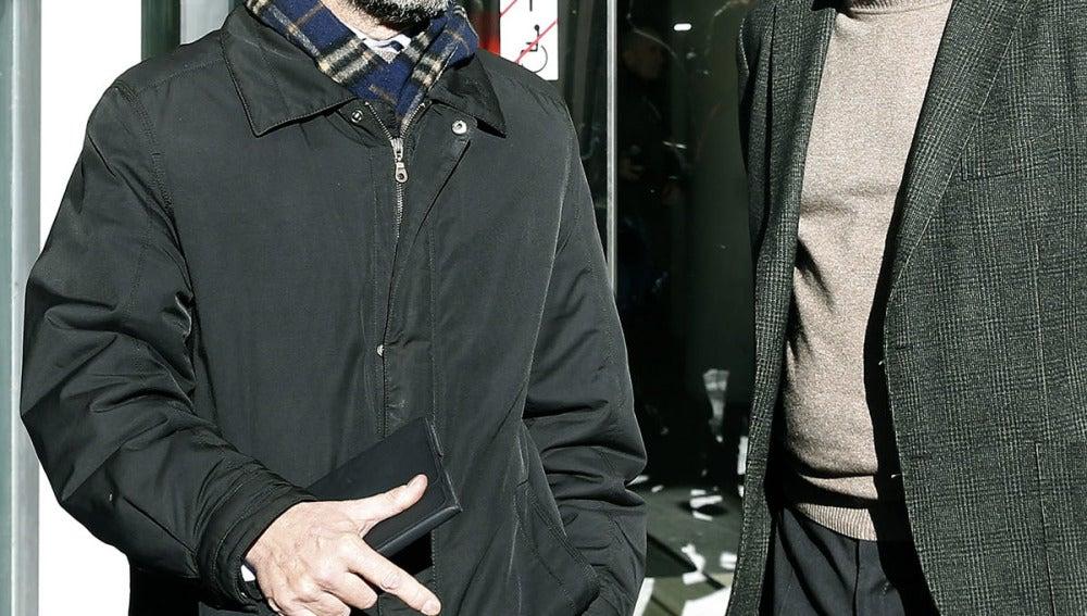 Oriol Pujol a la salida de los juzgados