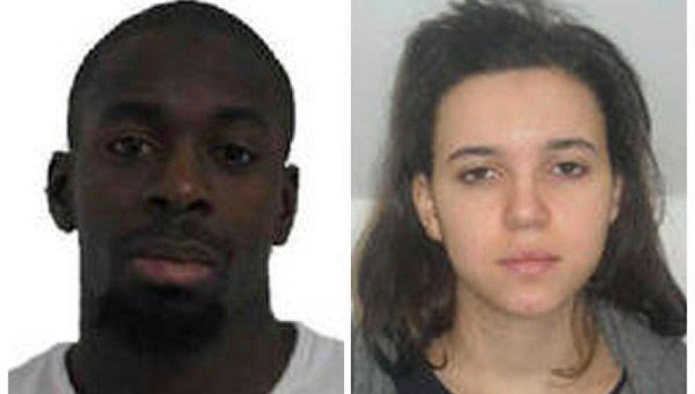 Amedy Coulibaly y Hayat Boumedienne, en una fotografía de la policía francesa
