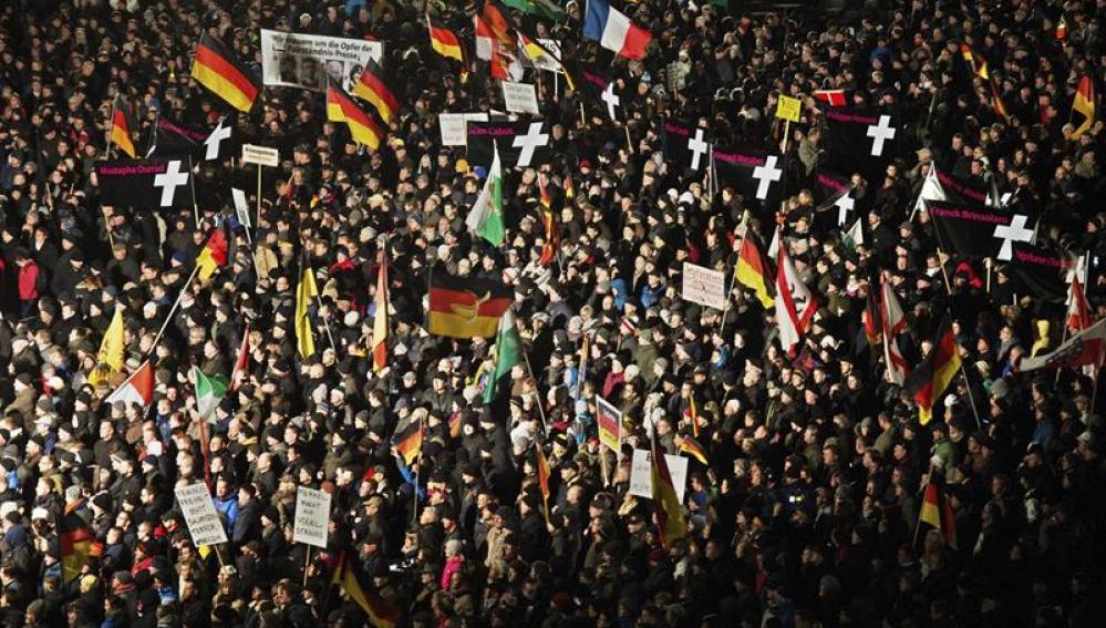 Manifestación anti inmigración en Alemania