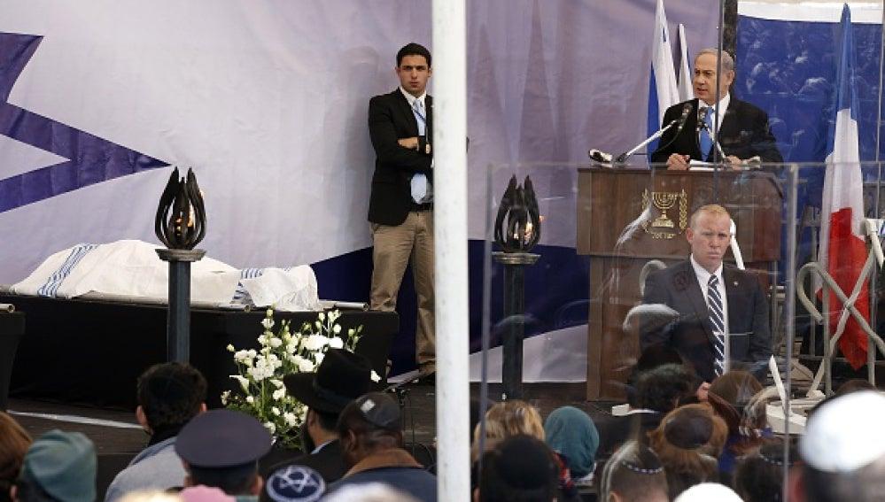 Netanyahu durante el acto en Jerusalén