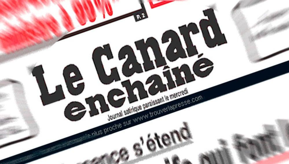 Cabecera de un número de 'Le Canard Enchaîné'