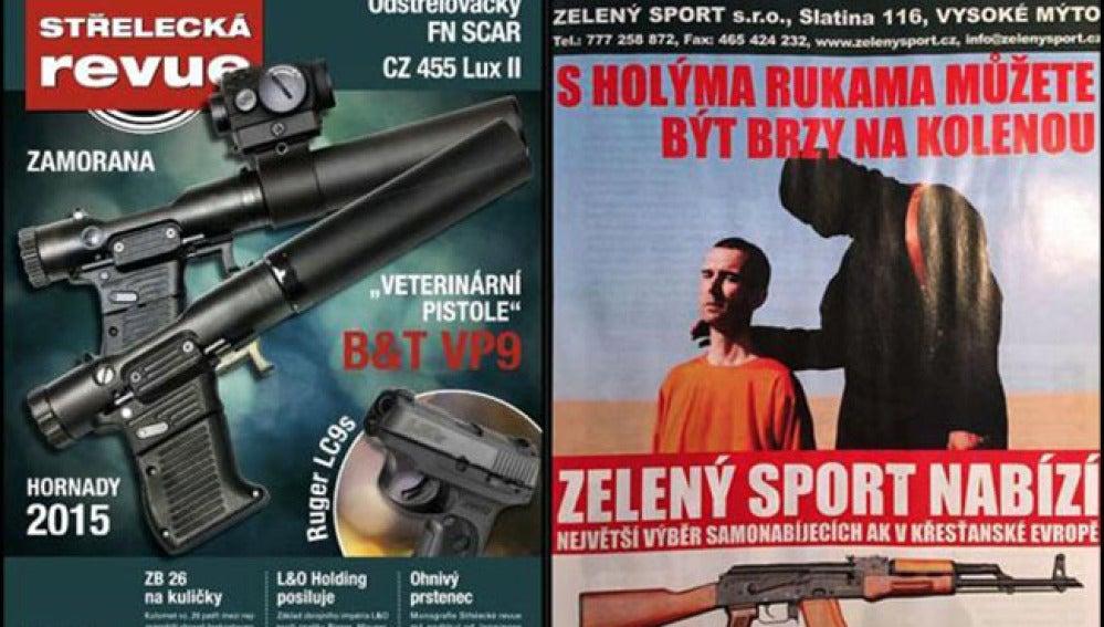 Portada de la publicación de armas con la polémica imagen.