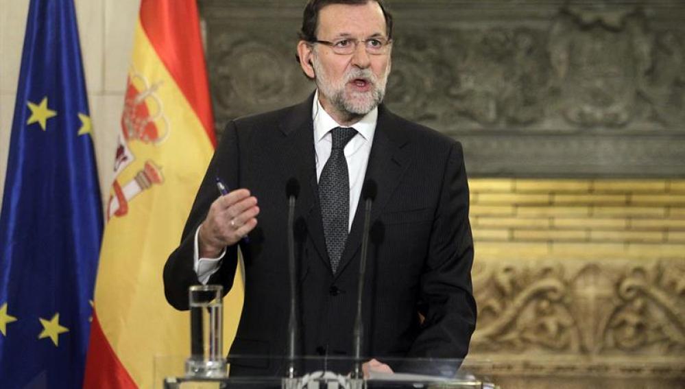 Rajoy en rueda de prensa junto con el primer ministro griego, Andonis Samarás