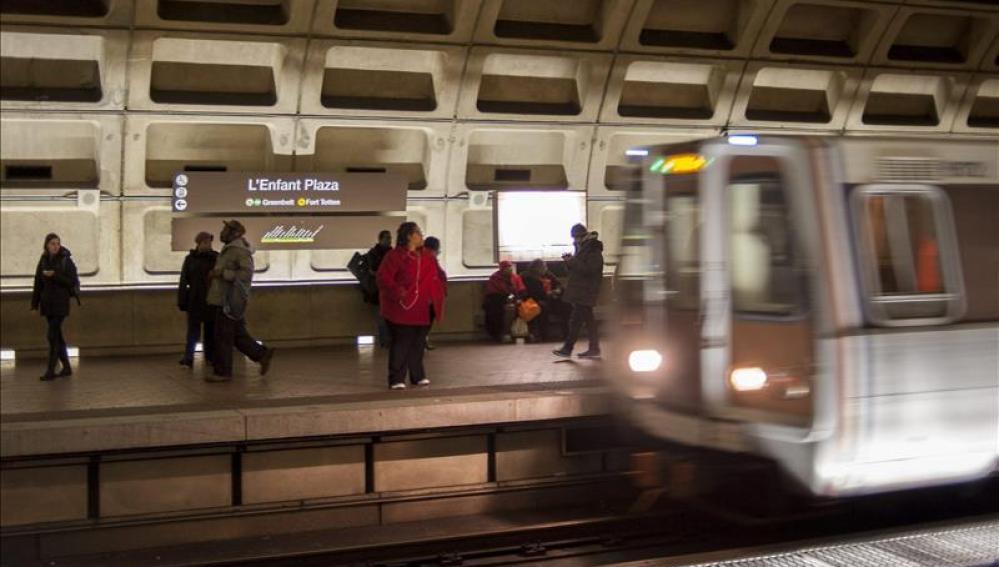 Estación de metro L´Enfant Plaza, en Washington.