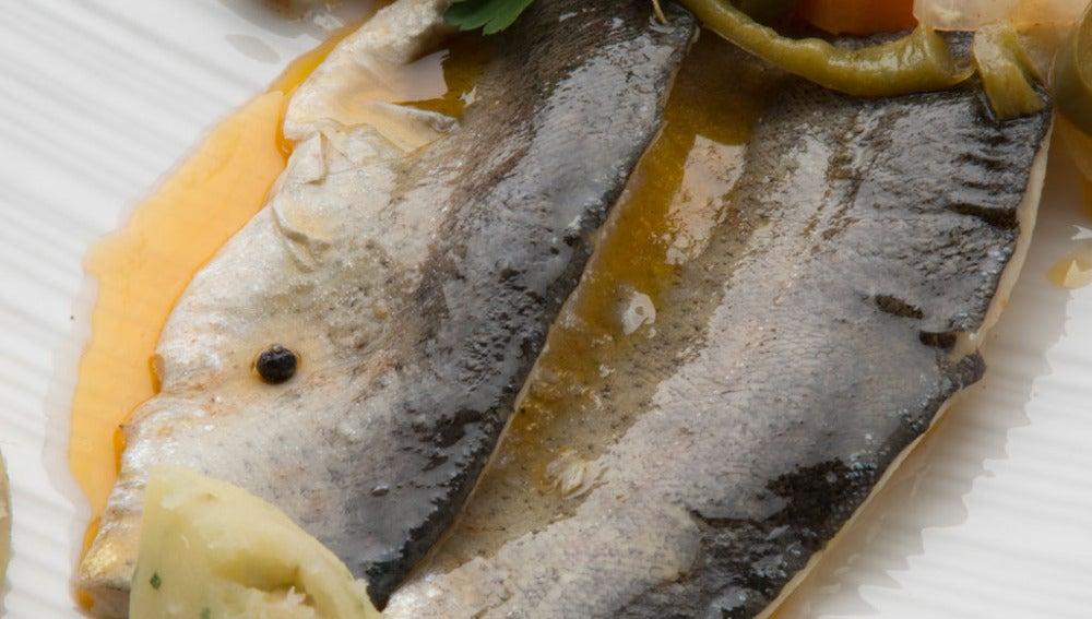 Truchas en escabeche con puré de patatas