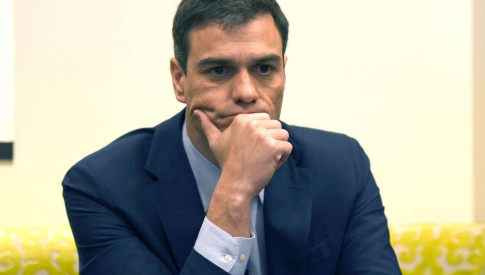 Pedro Sánchez, durante una conferencia en Washington